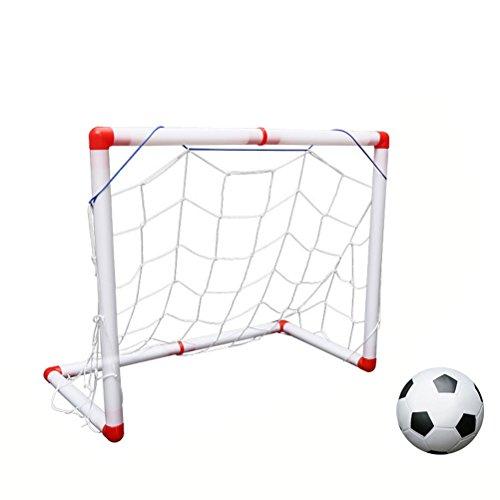 TOYANDONA GOL de fútbol de 56cm Objetivo de fútbol para Interiores y Exteriores con Bomba de Bola para niños Juguetes Deportivos
