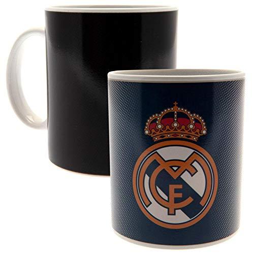 Real Madrid CF - Tazza termosensibile in ceramica (Taglia unica) (Nero)