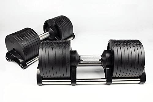 2x 32KG Adjustable Dumbbells Pair Solid Steel SilverBack Weight Set Affordable Dumbells Adjustable...