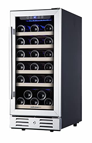 Kalamera 15 Inch Wine Cooler Refrigerator 30 Bottle with Stainless Steel &...
