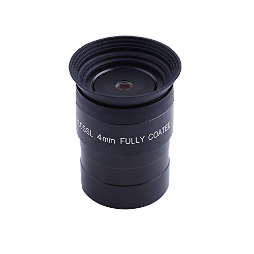 Topiky Oculare per telescopio, Completamente Rivestito HD 1,25 Pollici 4mm oculare Plossl Lente per oculare per Accessorio telescopio