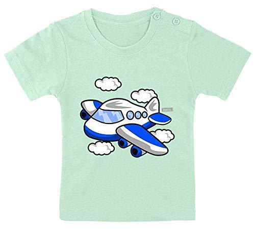 HARIZ Baby T-Shirt Flugzeug Auto Polizei Plus Geschenkkarten Zahnpasta Grün 3-9 Monate / 60-69cm