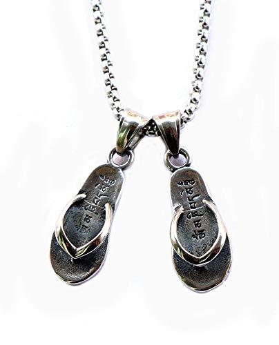 WYFLL Europäische Und Amerikanische Edelstahl Schmuck Halskette Dekoration Trendige Herren Hausschuhe Edelstahl Anhänger Modetrend Schmuck