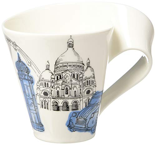 Villeroy & Boch Cities of the World Kaffeebecher Paris, 300 ml, Höhe: 11 cm, Premium Porzellan, blau