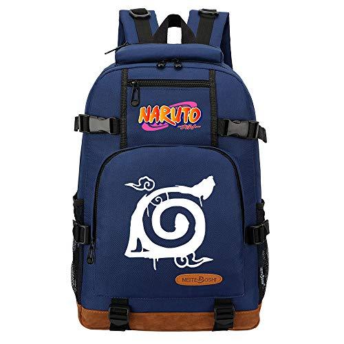 CXWLK Mochila Urban para Hombre Senderismo Trabajo con Bolsillo Backpack Mochila Hombres Mujer Bolso Mochila De Gran Capacidad,Naruto,Blue,46cmX29cmX13cm