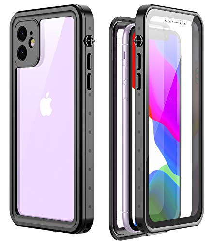 RedPepper Designed for iPhone 11 case, Clear Full Body Heavy Duty Protection with Built-in Screen Protector Shockproof Rugged Cover Designed for iPhone 11 6.1 inch(Black)