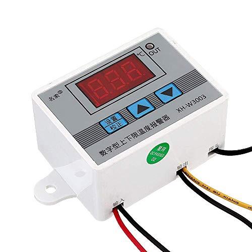 QIBIN Controlador digital de temperatura 12V XH-W3003 Micro Termostato Digital de Alta Precisión Interruptor de Control de Temperatura Alarma de Temperatura 3pcs conveniente