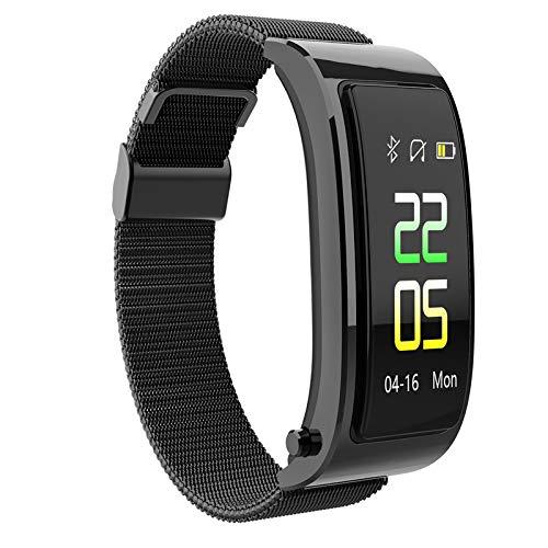 Y5 Bluetooth Smart Armband Horloge Met Draadloze Koptelefoon Music Headset Sport Stappenteller Smart Polsband,Black