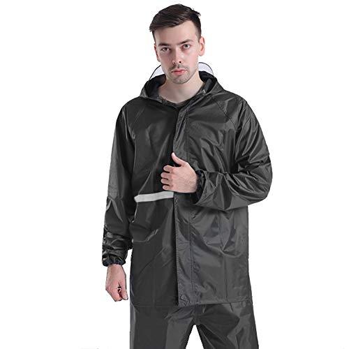 Preisvergleich Produktbild TBATM Adult Raincoat Suit,  Sichere reflektierende Tape wasserdichte Jacken mit Hoods und Sleeves Regenbekleidung für RadCamping Camping Wasserfahrten, Schwarz