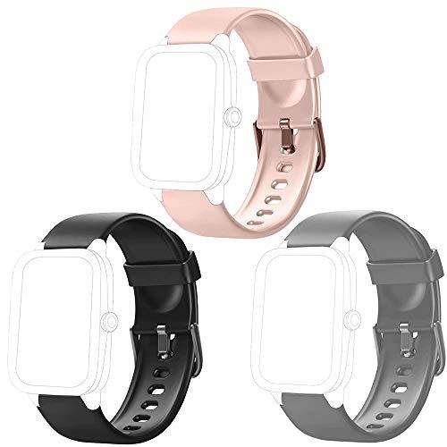 Flenco Correa para Reloj Inteligente ID205 ID205L ID205S ID205U ID20G Smartwatch Pulsómetro Cronómetros Calorías Monitor de Sueño Podómetro Monitores de Actividad Reloj Deportivo Pulsera de Repuesto