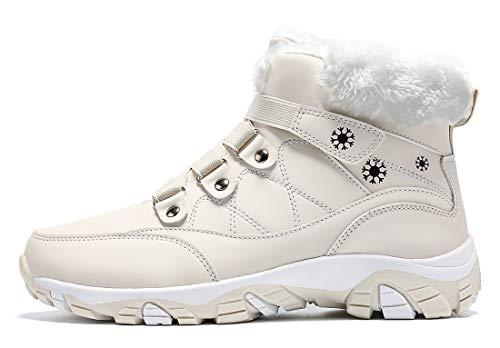 VITIKE Damen Winterschuhe Warm Gefüttert Schneestiefel Winter Outdoor Boots Winterstiefel mit Warm Gefüttert