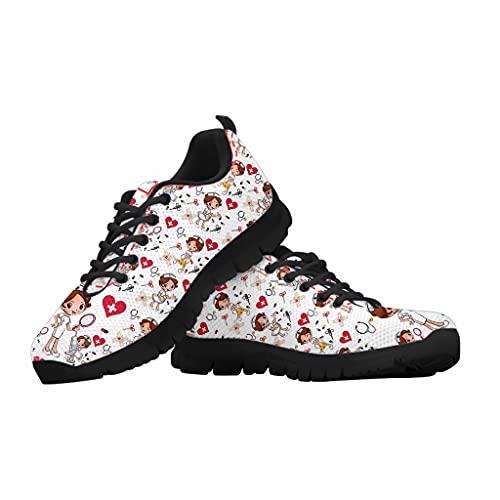 chaqlin Zapatillas de correr para hombre de mujer,Zapatillas de malla ligera,Mocasines deportivos transpirables para caminar, color Blanco, talla 38 EU