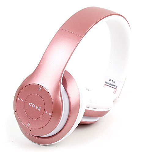 DURAGADGET Auriculares Plegables inalámbricos en Color Rosa para Smatphone Hisense C30 Rock Lite/Onix S405/Onix S551/Oukitel K3/SORAKA Z8/VKWorld Mix Plus
