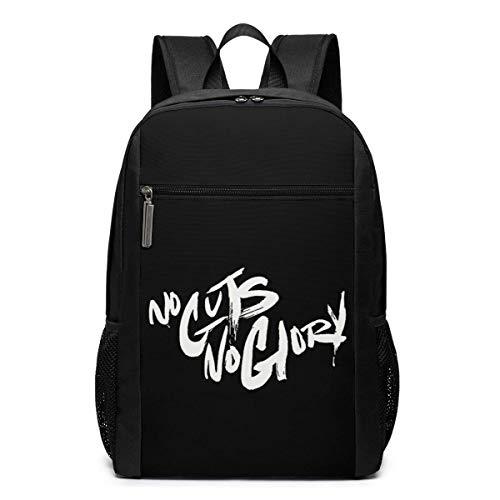ZYWL No Guts No Glory Laptop-Rucksack, Reiserucksäcke School College Bookbag für Frauen und Männer 17 Zoll