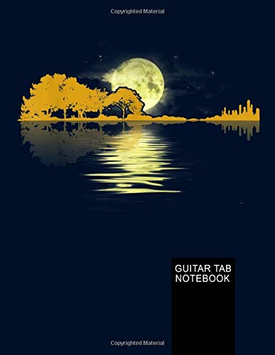 Guitar Lake Shadow. Guitar Tab Notebook: My Guitar Tablature Book - Blank Music Journal for Guitar Music Notes - More than 150 Pages