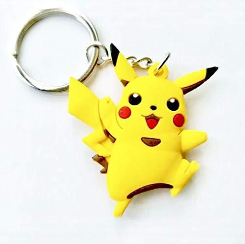 WoloShop Portachiavi Gomma Pokémon Doppia Faccia (Pikachu)