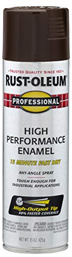 Rust-Oleum 7548838 Professional High Performance Enamel Spray Paint, 15 oz, Dark Brown