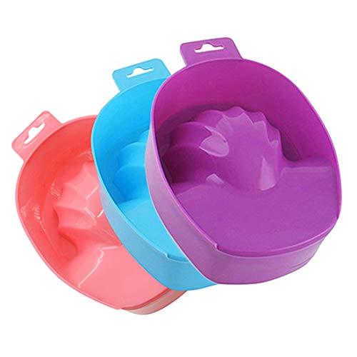 hearsbeauty Tremper Le Bol Nail Art Hand Wash Remover Container En Plastique DIY Salon Nail SPA Bath Manucure Tool 6.89\