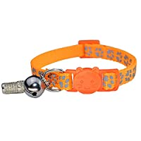 【Size S】: Collar adjustable from 7-inch to 11-inch , 3/8inch width,fits kittens and most cats 【Material】: Made of durable nylon with reflective stripe sewn, that have excellent abrasion resistant and tensile resistance 【Safety Buckle】: Safety breakaw...