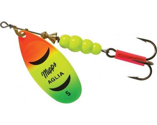 Mepps Aglia Plain Treble Fishing Lure, 1/2-Ounce, Hot Fire Tiger (B5 HFT)