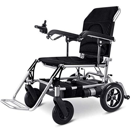 WLMGWRXB elektrische rolstoel seniors, draagbare reisstoel voor transport volledig automatisch, elektromagnetische rem