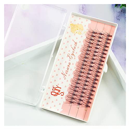 1 plateaux Naturel Long Noir Faux Cils Eye Eye Lash Extension Tool de maquillage 60 noeuds 6-15mm Disponible à haute simulation de taille naturelle pour bébés naturels ( Couleur : C , Taille : 6mm )