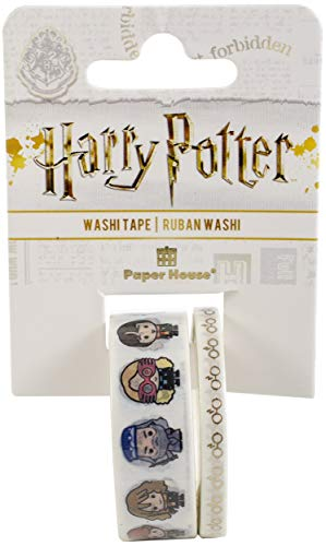 Paper House Productions Harry Potter Chibi Characters Set of 2 Foil Accent Washi Tape Rolls for Scrapbooking and Crafts