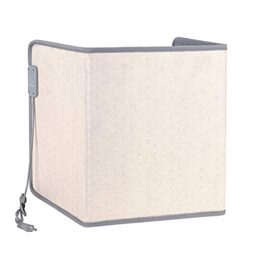 Rollibot 遠赤外線 デスクヒーター パネルヒーター 折り畳み式 保温 足元 暖房 3段階調整 NTC温度制御 4時間タイミング機能 暖房器具 省エネ 冷え対策 過熱保護 45°傾斜電源オフ PSE認証 雲