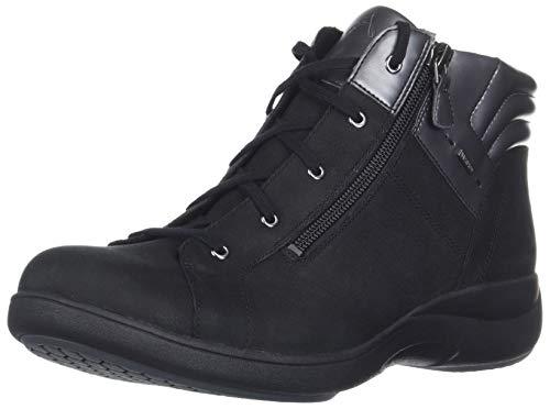 Aravon Women's REV STRIDARC Waterproof Low Boot Ankle, Black, 9 Wide