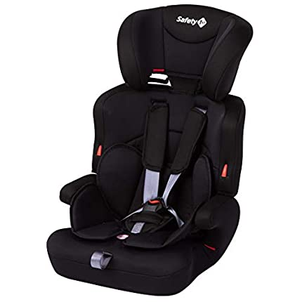 Safety 1st Ever Safe Plus Silla Coche Grupo 1 2 3, Crece con el Niño 9 meses - 12 años (9-36 kg), Con Cojín Reductor Extraíble, Full Black (negro)