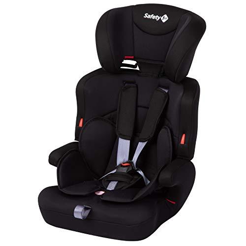 Safety 1st Ever Safe Plus Kindersitz, mitwachsender Gruppe 1/2/3 Autositz mit 5-Punkt-Gurt (9-36 kg), nutzbar ab circa 9 Monate bis circa 12 Jahre, schwarz