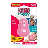 KONG - Puppy <span class='highlight'>Toy</span> <span class='highlight'>Natural</span> Teething <span class='highlight'>Rubber</span> -Fun to <span class='highlight'>Chew</span>, Chase & Fetch- <span class='highlight'>For</span> Small Puppies (Color May Vary)