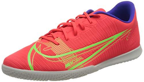 Nike Vapor 14 Club IC, Football Shoe Hombre, Bright Crimson/Metallic Silver-Indigo Burst-White-Rage Green, 45 EU