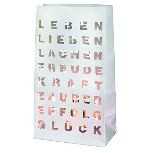 Lichttüte 2er Set Poesie & Licht Leben, Lieben Lachen ... von Räder Nr 8513