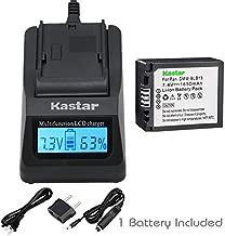 Kastar Fast Charger and Battery (1-Pack) for Panasonic DMW-BLB13, DMW-BLB13E, DMW-BLB13GK and Panasonic DE-A49, DE-A49C Work with Panasonic Lumix DMC-G1, DMC-G2, DMC-G10, DMC-GF1, DMC-GH1 Cameras