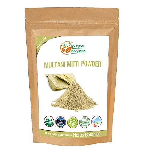 Herbs Botanica 100% Natural Multani Mitti Powder (Fuller's Earth Clay) Bentonite Clay 5.3 Oz | 150 gms