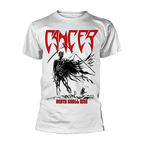 Cancer 'Death Shall Rise' White T Shirt - New Man T-Shirt 100% Cotton Sleeve Shirt White L
