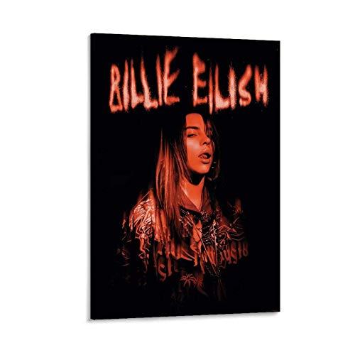 ZHUTOU Póster de Billie Eilish en lienzo y arte de pared con impresión moderna para dormitorio familiar, 60 x 90 cm