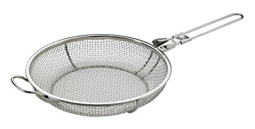 Elizabeth Karmel's Sizzlin' Skillet Grill Pan and Vegetable Grill Basket, Stainless Steel, 11-Inch x 2.25-Inch