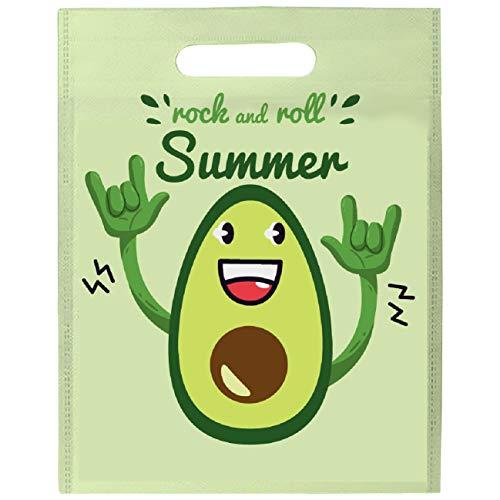 My Custom Style Shopper #SummerTime_B#Mix Polyethylen 33 x 41 cm 33x41 Senza Manici Summer Time - Rock Avocado