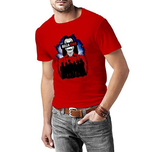 Bella Ciao T-Shirt für Herren, 100 % Baumwolle, FU0025-M, Rot, FU0025-M XL