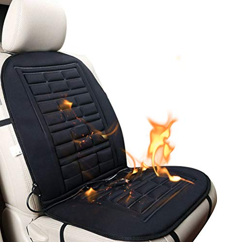 Universal Heated Seat Cushion,12V Car Seat Heater with 3modes Switch of Heating Pad for Full Back and Seat, Instant Heating-up Seat Cover with Time Temperature Controller for Car,Home and Office Chair