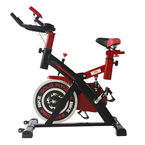Lcyy-Bike Allenatori di Bicicletta Resistenza Magnetica 6 kg Volano Cardio Workout con Display Multifunzionale E Ammortizzatore A Molla Manubrio Regolabile E Altezza del Sedile