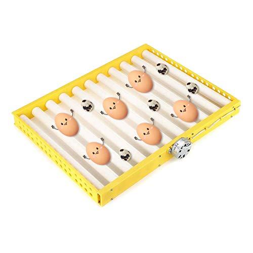 Automatische Brutmaschine Ersatzteil for Automatische Brutmaschine Eierwender Inkubator 25-100 Eier Einsatz Inkubator Brutwender for Hühner Enten Tauben Vögel ( Color : Yellow , Size : 43cm*43cm )