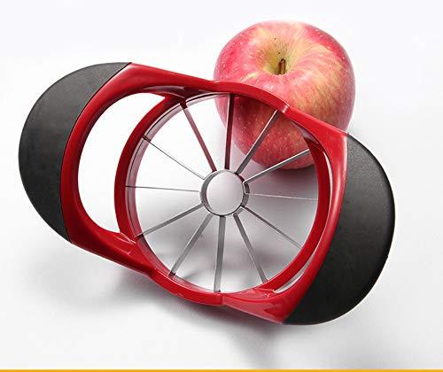 1 cortador de manzanas para pelar manzanas con mango ergonómico y acolchado, cortador de frutas, peladores de pera y manzanas