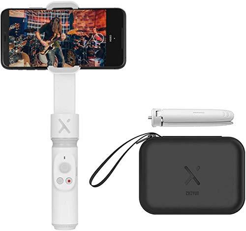 ZHIYUN Smooth-X [Offiziell] Faltbarer Smartphone-Kardanstabilisator Selfie Stick Vlog Youtuber (Weiß Combo)