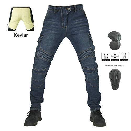JET Pantalon Moto Hombre Jeans Kevlar Aramid Con Armadura TECH PRO , Gris 50 Regular//Cintura 34 Longitud 32 L