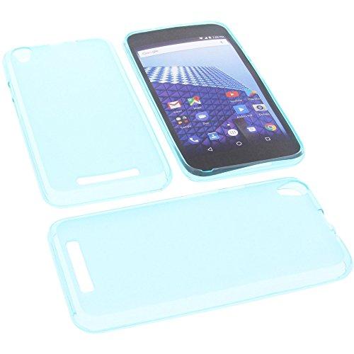 foto-kontor Tasche für Archos Access 55 3G Gummi TPU Schutz Handytasche blau