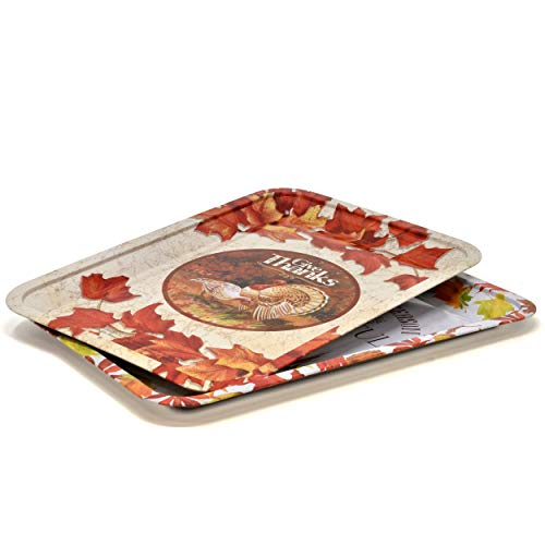 """Thanksgiving Fall Leaves Tray 4 Pack 13"""" x 9"""""""