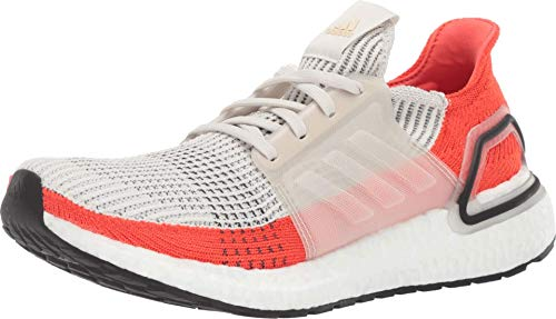 adidas Men's Ultraboost 19 Running Shoe, raw White/Active Orange, 8.5 M US